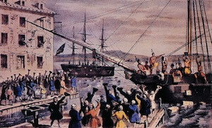 The Destruction of Tea at Boston Harbor